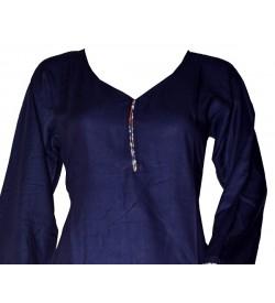 Maatra Reyon Patiyala Full Sleeve Blue Kurti & Patiyala (Stitched) - RC7827