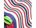 Multi Colour Soft Lunch Towel - 0030 - [Pack Of 24 Pcs]