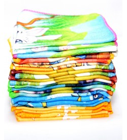 Seven Hills Soft Cotton Handkerchief For Ladies/Kids - 8378 - [Pack Of 24 Pcs]