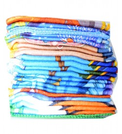Seven Hills Soft Cotton Handkerchief For Ladies/Kids - 8385 - [Pack Of 24 Pcs]