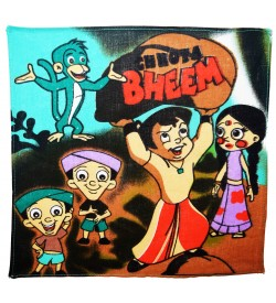 Naini Chota Bheem Multicolor Cotton Handkerchief For Kids - Pack Of 12