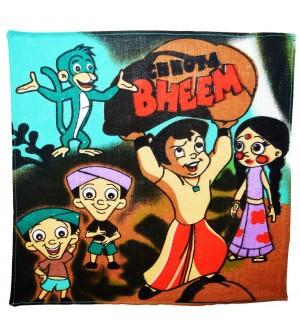 Naini Chota Bheem Multicolor Cotton Handkerchief For Kids - Pack Of 12