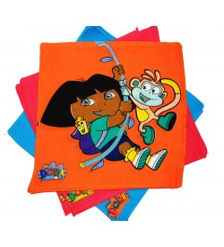 Naini Dora Multicolor Cotton Handkerchief For Kids - Pack Of 12