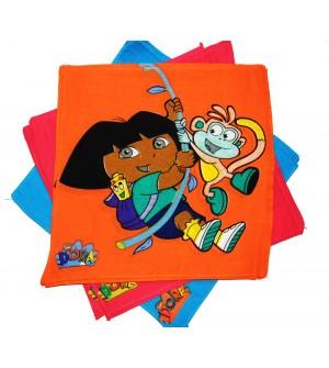 Naini Dora Multicolor Cotton Handkerchief For Kids - Pack Of 12
