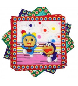 Sofil Cartoons Muti Colour Handkerchief For Kids & Girls (Pack of 12)