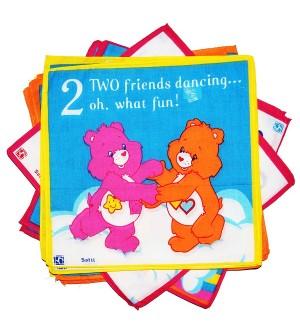 Sofil Cartoons Muti Colour Handkerchief For Kids & Girls (Pack of 12)