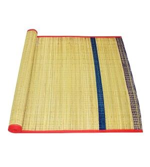 Vandavasi Cool Eco-friendly Portable Korai Pai Grass Sleeping, Pooja Mat Single