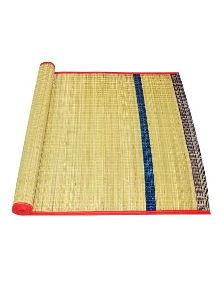 Vandavasi Cool Eco-friendly Portable Korai Pai Grass Sleeping, Pooja Mat Single