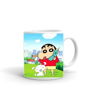Samudhraa Double Side different shinchan poses print Ceramic Mug  (300ml)