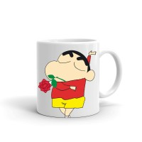Samudhraa Double Side different shinchan Love print Ceramic Mug (300ml)