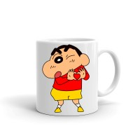 Samudhraa Double Side different shinchan print Ceramic Mug (300ml)