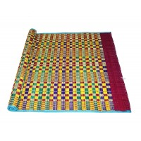 Vandavasi Cool Eco-friendly Portable Korai Pai Grass Sleeping, Pooja Mat - Multicolor