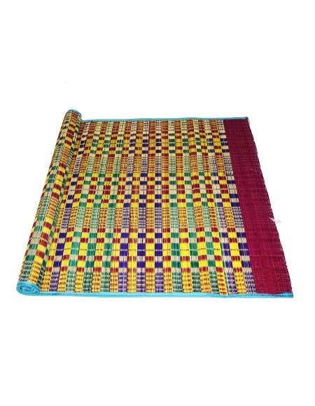Vandavasi Cool Eco-friendly Portable Korai Pai Grass Sleeping, Pooja Mat - Multicolor