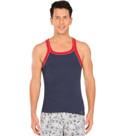 Jockey Ink Blue Melange Vest