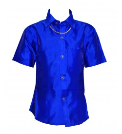 Ak Kutti Mappillai Cotton Shirt and Dhoti set for Kids/Boys Velcro hip closure Dhoties -KI7262