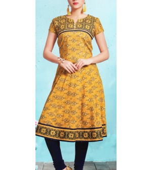Aanchi Princess Multi Colour Embroidered Designed Hlaf Sleeve Kurti For Women's And Girls - KU_1405