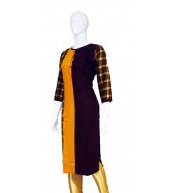 Maatra Full Sleeve Plain With Print  Kurti For Women's And Girls - KU_0021