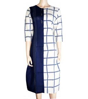 She's Studio-6207 Double Colour Fancy Long 3/4 Sleeve Kurti For Women's And Girls - KU_1594