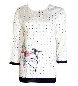 She's Studio-6227 3/4 Sleeve Top For Women's And Girls - KU_1599