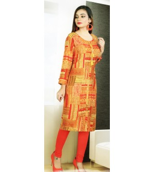 Aanchi Mannat Multi Colour Designed Full Sleeve Kurti For Women's And Girls - KU_106