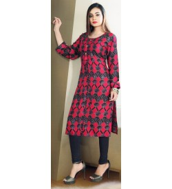 Aanchi Mannat Multi Colour Designed Full Sleeve Kurti For Women's And Girls - KU_105