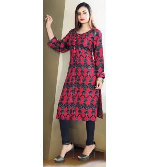 Aanchi Mannat Multi Colour Designed Full Sleeve Kurti For Women's And Girls - KU_105