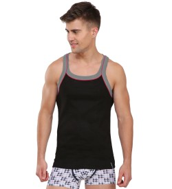 Jockey Black & Grey Melange Vest