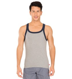 Jockey Grey Melange & Navy Fashion Vest