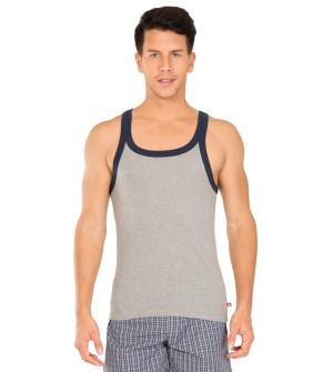 Jockey Grey Melange & Navy Fashion Vest