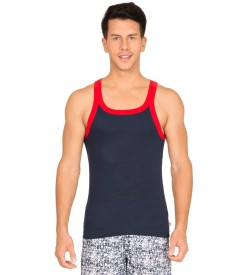 Jockey Navy & Red Fashion Vest