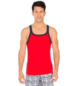 Jockey Red Bias & Navy Fashion Vest