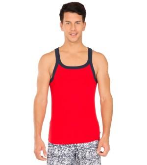 Jockey Red Bias & Navy Fashion Vest