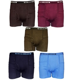 Arokya Classic Pocket Trunks Multi Colour (Pack Of 5)