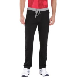 Jockey Black & Grey Melange Sports Track Pant -9510