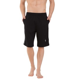 Jockey Black Knit Sport Shorts - 9426