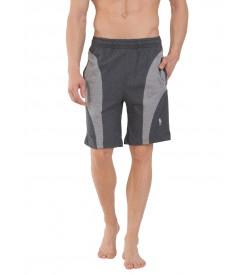 Jockey Charcoal Melange & Grey Melange Knit Sport Shorts -9411
