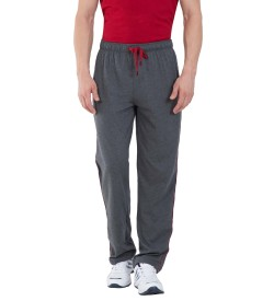 Jockey Charcoal Melange & Shanghai Red Jersey Pants - 9500