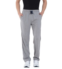 Jockey Grey Melange & Navy Jersey Pants - 9500