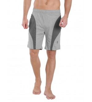 Jockey Grey Melange & Charcoal Melange Knit Sport Shorts - 9411