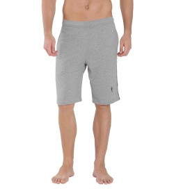 Jockey Grey Melange & Navy Knit Sport Shorts - 9426