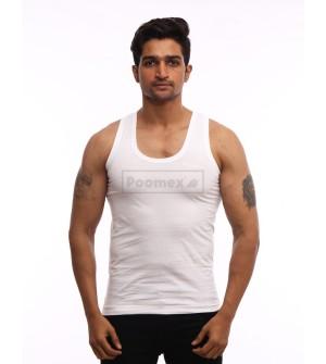 Poomex Premium RN White Vest For Men & Boys (Pack of 3)