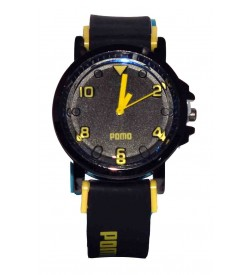 POMO Black Green & Black Red Colour Best Compo Pack Of 2 Watch For Boys & Mens - W12
