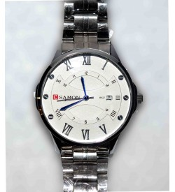 SAMON Silver Watch With Date For Boys & Mens - W13