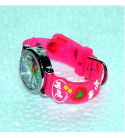 Barbie & Dora Pink-Orange-Light Violet Colour Compo Pack Of 3 Kids Watch-For Girls-W15