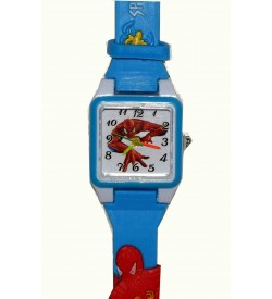 Chota Bheem-Ben10-Spider Light Blue-Red-Black Clour Compo Pack Of 3-Kids Watch For Boys-W16
