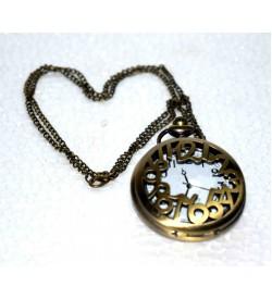QUARTZ Clock Gandhi Style Pocket Watch Chain W21