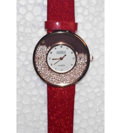 KMS MovingBeeds_Pink & Red Colour Watch - For Women Pack Of 2 - W6400