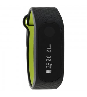 Fastrack Reflex 2.0 Smart Band in Midnight Black with Neon Green Accent For Men & Boys