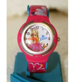 New Round Dial Barbie Analog Watches For - Kids-W6