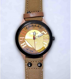 Forest Gunuine Leather Men's Watch W-9 Pcs Of 2